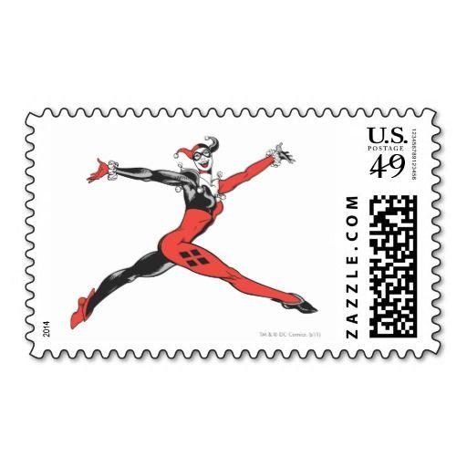 Harley Quinn 3 Postage Zazzle Com Sellos Sellos
