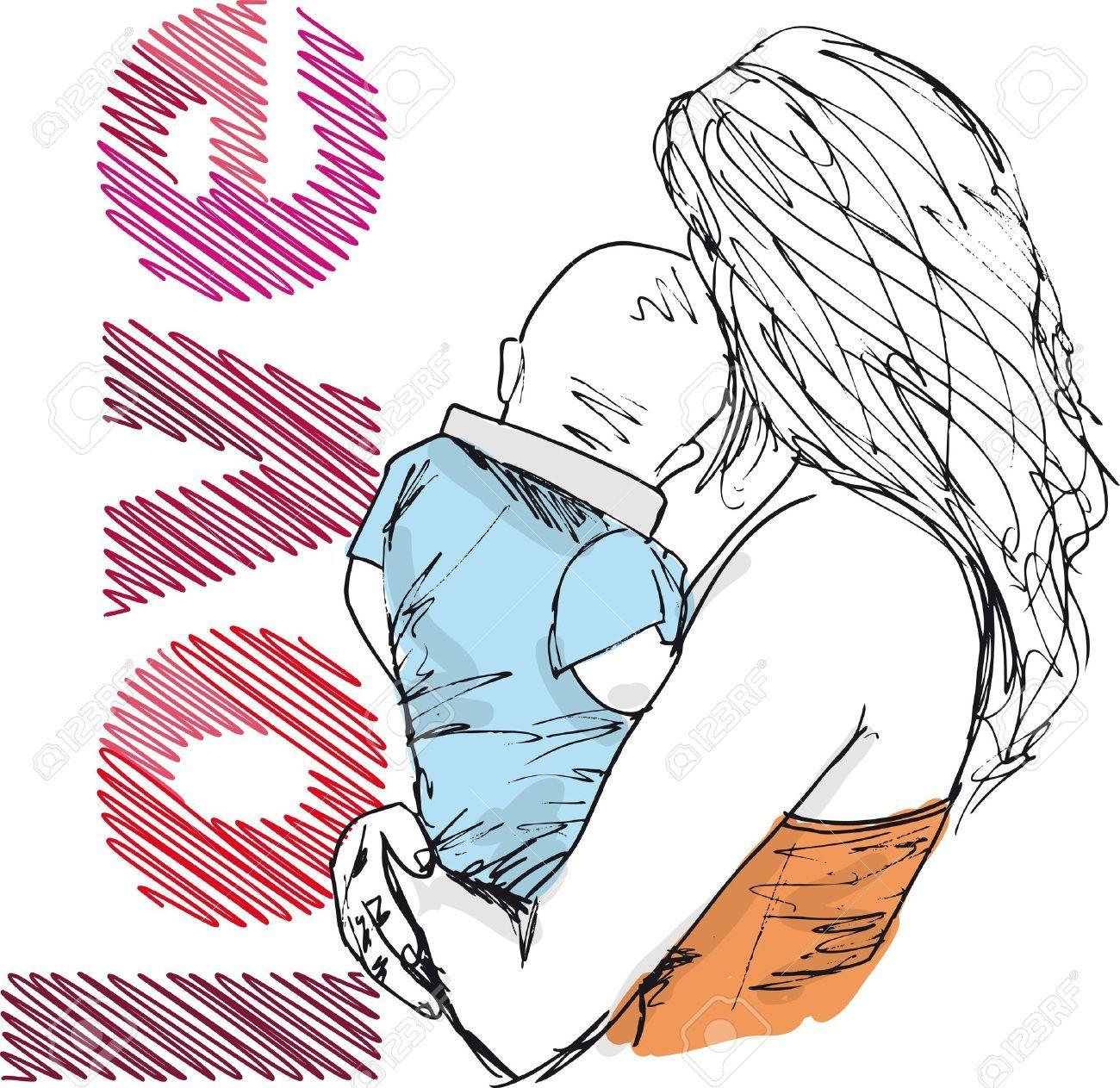 Pin De Ana Castano En Todo Madres Ilustracion Vectorial Illustration Dibujos