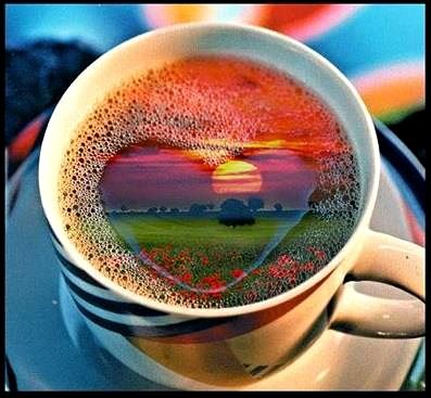 Image result for cup of coffee rainbow images
