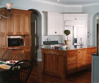 Best Black Wall Cabinets Blue Gray Walls And Gigantic Granite 640 x 480