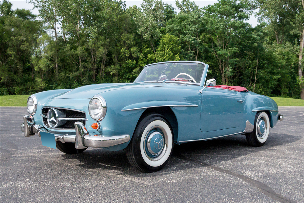 1962 MERCEDES-BENZ 190SL CONVERTIBLE - light blue exterior with tan ...