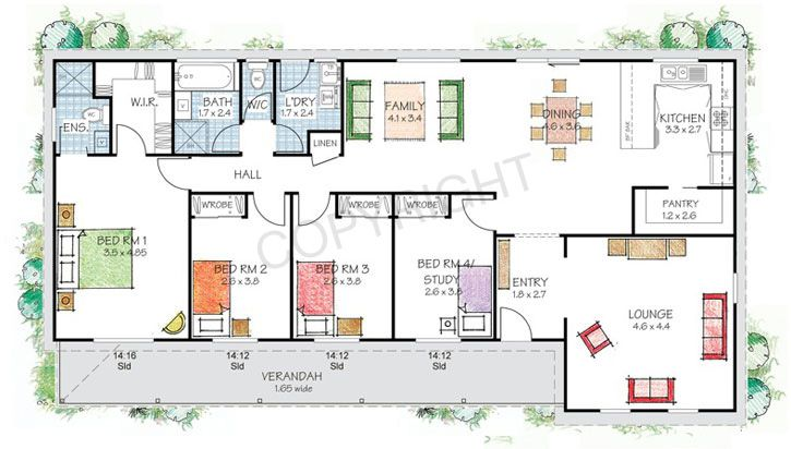 The Shoalhaven floor plan Steel Frame Kit Home by PAAL Kit Homes