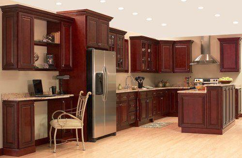 All Wood 10×10 Kitchen Cabinets Miter Raised Cherry # ...