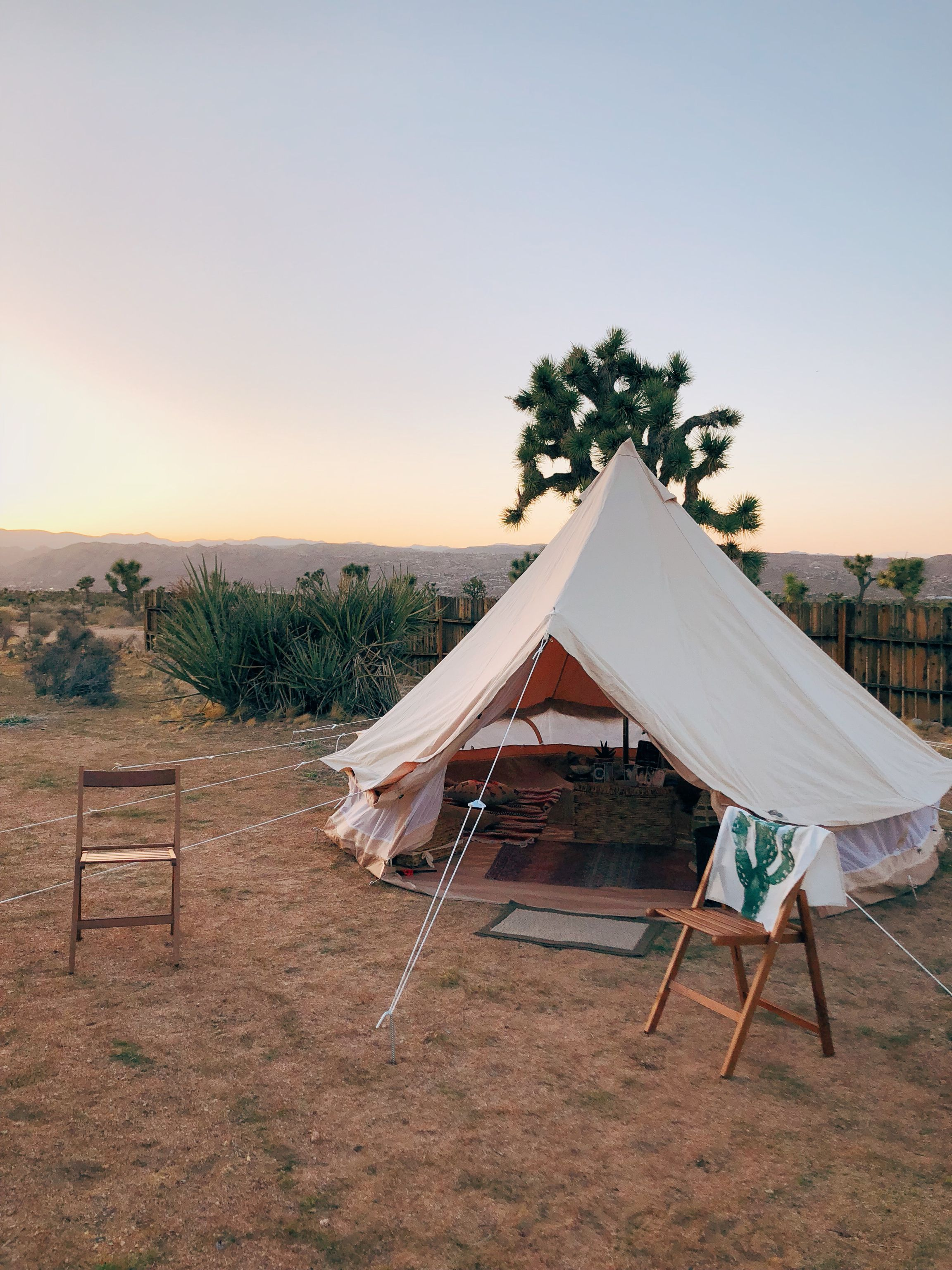 quaint camping in the Island
