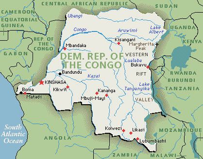This is the Democratic Republic of Congo located in Central Africa