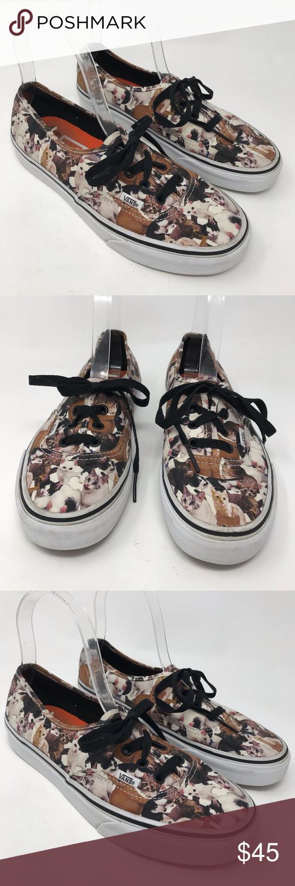 Vans Aspca Cat Lace Up Sneakers Kitten Shoes Sneakers Shoes Vans