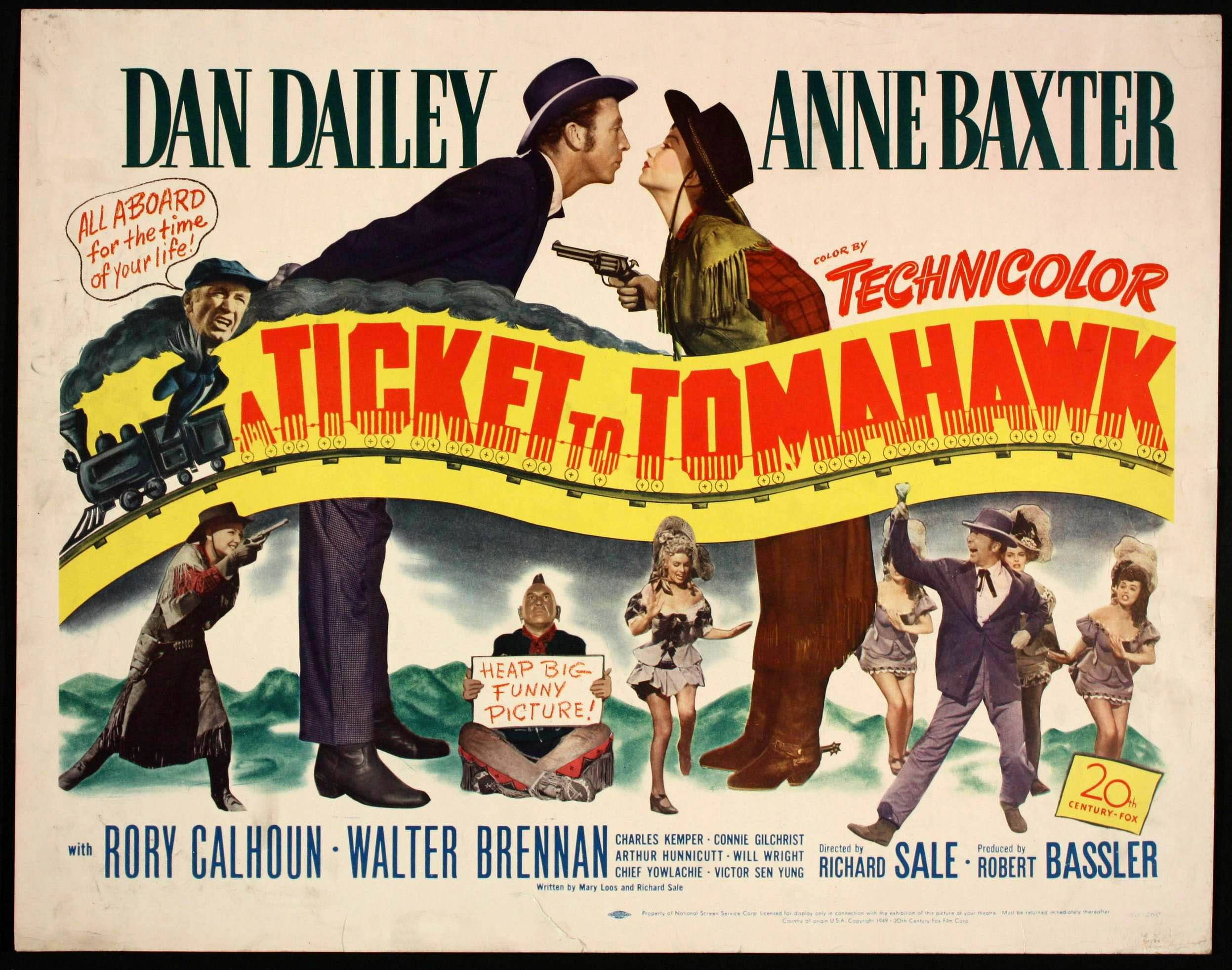 Image result for a ticket to tomahawk movie poster