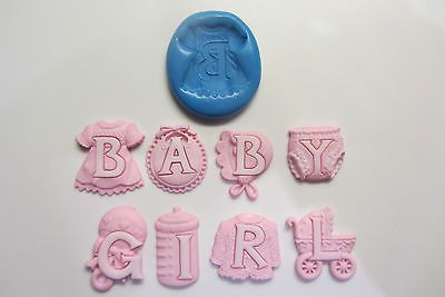 Baby girl silicone #moulds #sugarcraft , fimo , food , cake decorating #cupcakes,  View more on the LINK: http://www.zeppy.io/product/gb/2/150999549103/