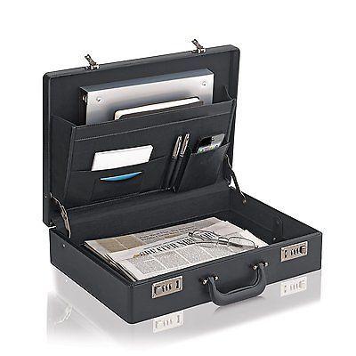 Leather Briefcase Attache Bag Messenger Black Men Handbag Case Business Genuine