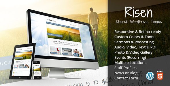 cool Risen - Church WordPress Theme (Responsive) | Themes-Templates ...