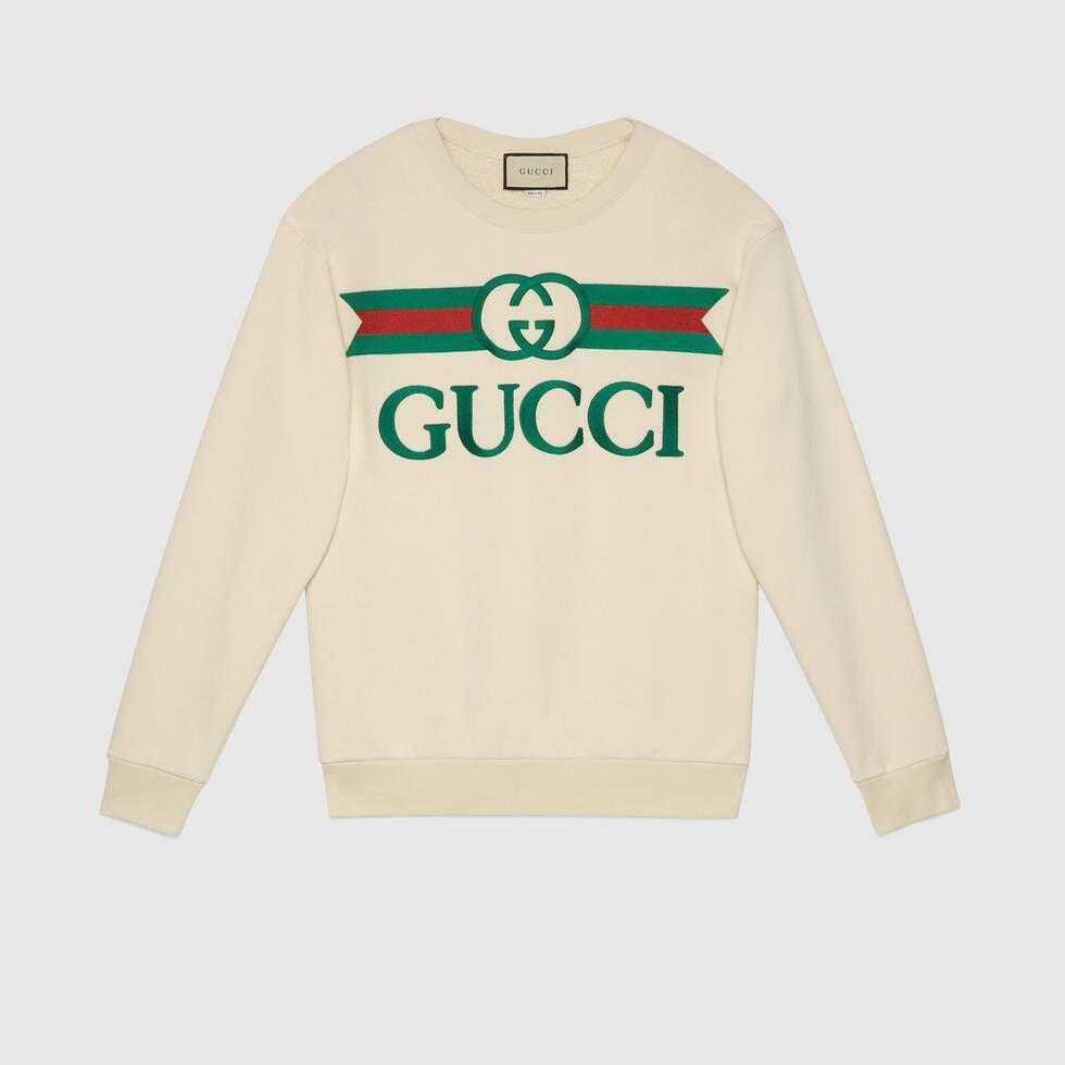 Shop The Oversize Sweatshirt With Gucci Logo In White Cotton At Gucci Com Enjoy Free Shipping And Compliment Sweatshirts Gucci Sweatshirt Oversized Sweatshirt [ 980 x 980 Pixel ]