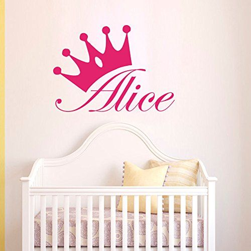 Wall Decals Custom Personalized Name Children Gift Princess Crown - Custom custom vinyl wall decals uk