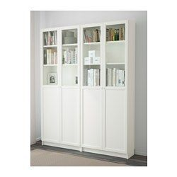 Billy oxberg ikea billy biblioth que blanche et porte - Bibliotheque ikea blanche ...