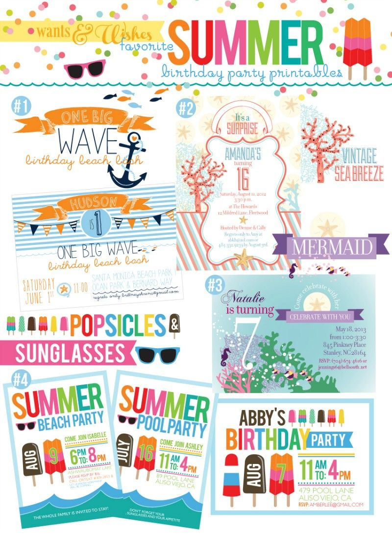 Free Printable End Of Summer Party Invitations | Mysummerjpg.com