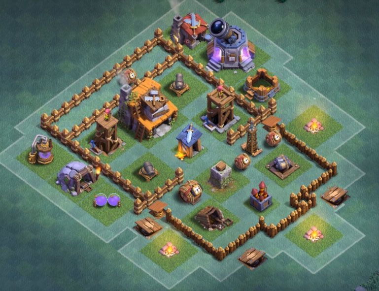 Builder Hall 4 Base Layout Anti Boxer Giant Town Hall 4 Layout Base