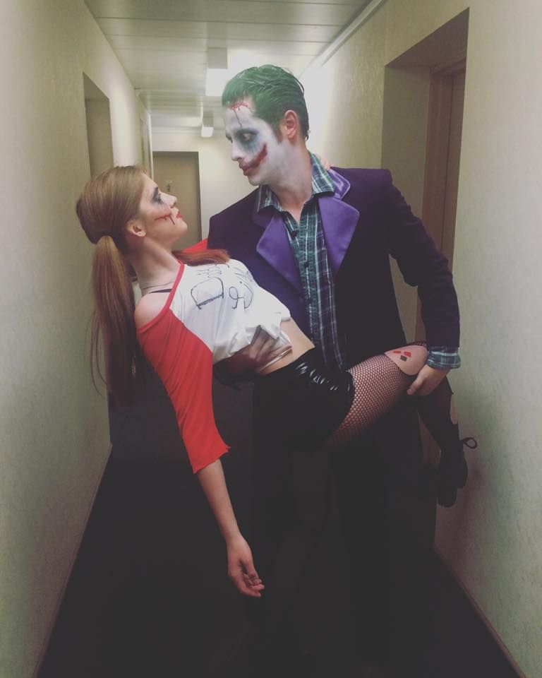 Joker and Harley Quinn Coupleu0027s Costume.  sc 1 st  Pinterest & Joker and Harley Quinn Coupleu0027s Costume. | Halloween Costumes ...