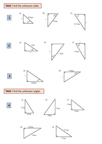 All Worksheets basic trigonometry worksheets : Basic