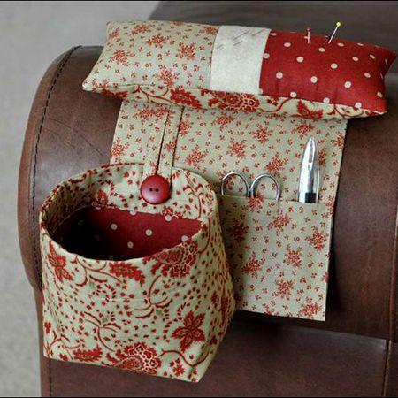 Pincushion with Thread Catcher Bag | Sewing Room | Pinterest | Nähen ...