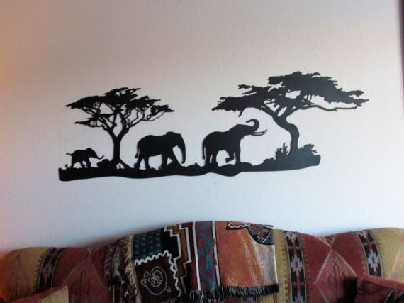 Elephant Home Decor Metal Wall Art Wall Sculpture Etsy Metal Tree Wall Art Metal Art Elephant Home Decor