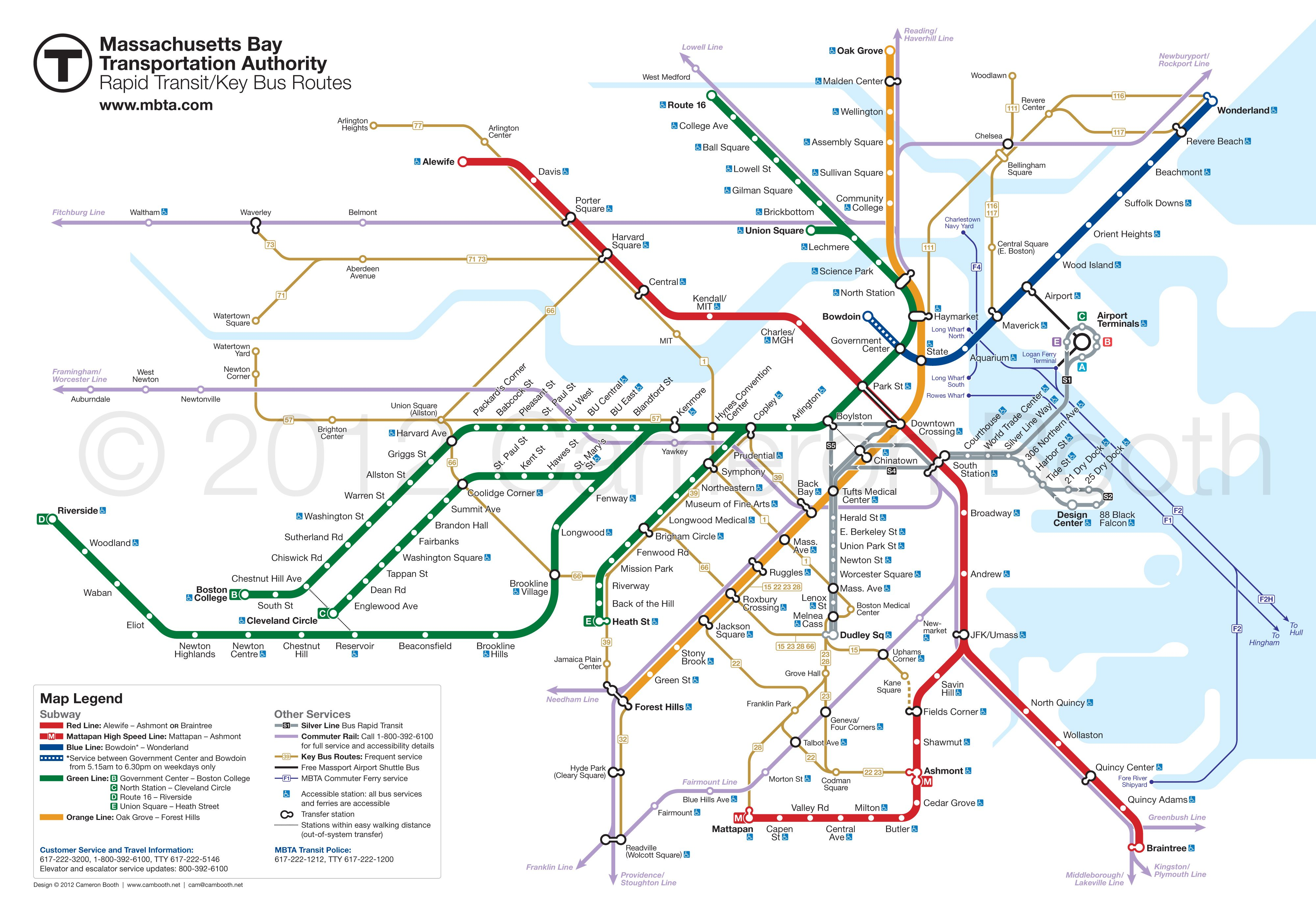 Buy New York City Subway Map Tauranac 2012.Project Boston Mbta Map Redesign Zertocon Subway Map Map