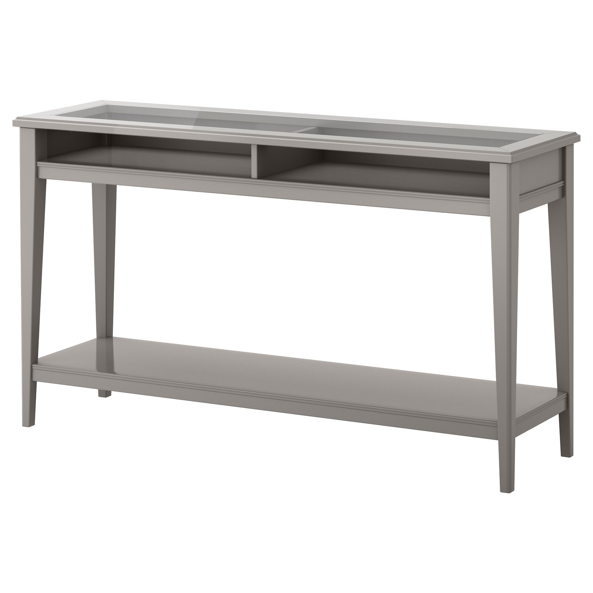 LIATORP Console table gray glass