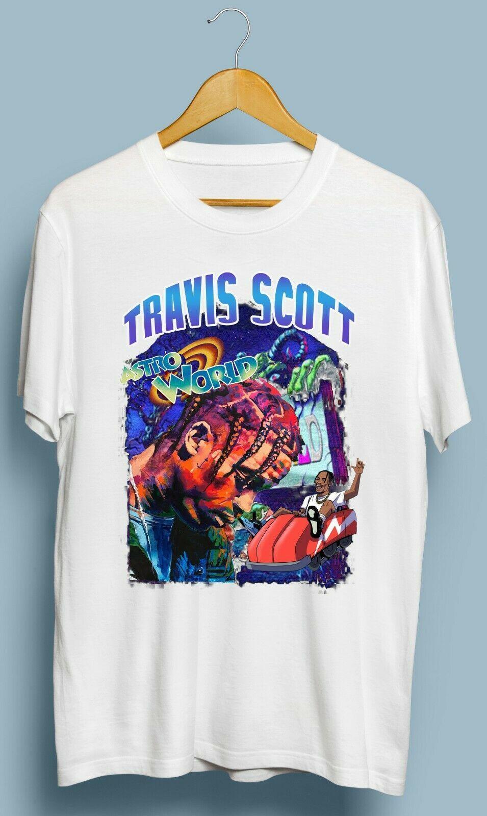 Details about vintage travis scott astro world tshirt