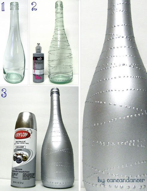 Glass Bottles For Decoration Can Can Dancer Bottles To Vases  Never Enough Hours In The Day