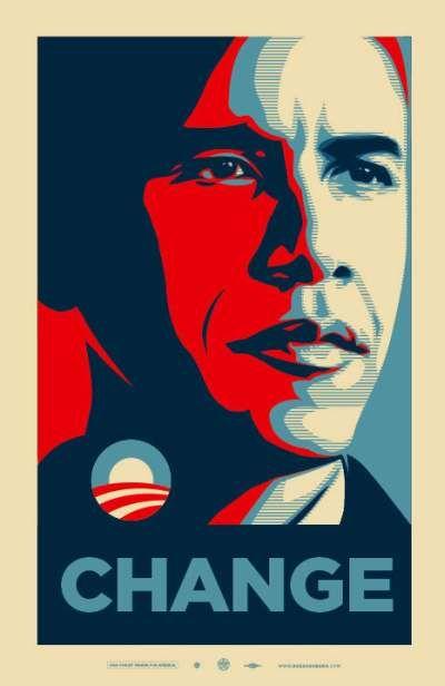 Obama Change Shepard Fairey