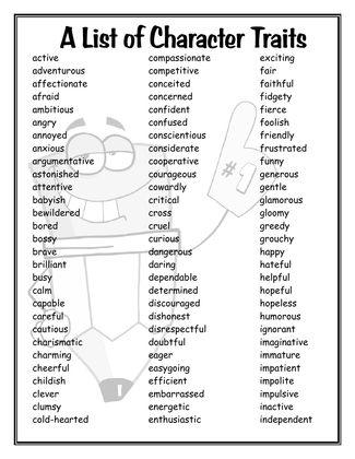 A List of Character Traits Fantastic Lesson Ideas Pinterest - positive character traits