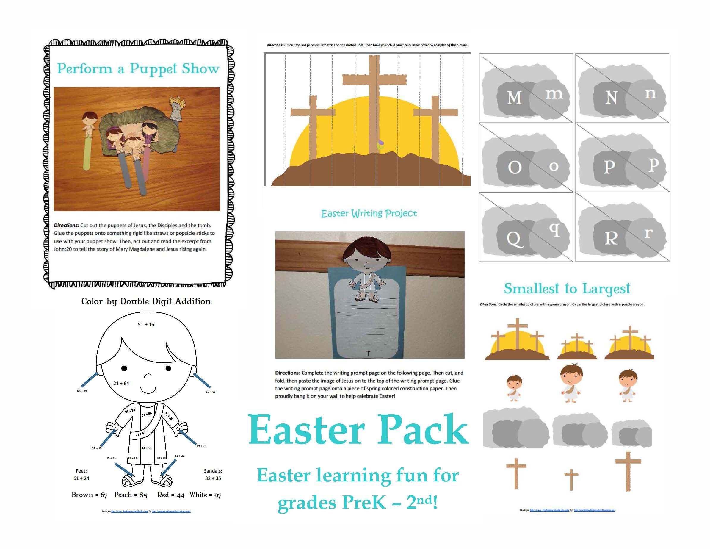 Free Easter Printable Pack For Prek 2nd Grade 27 Pages