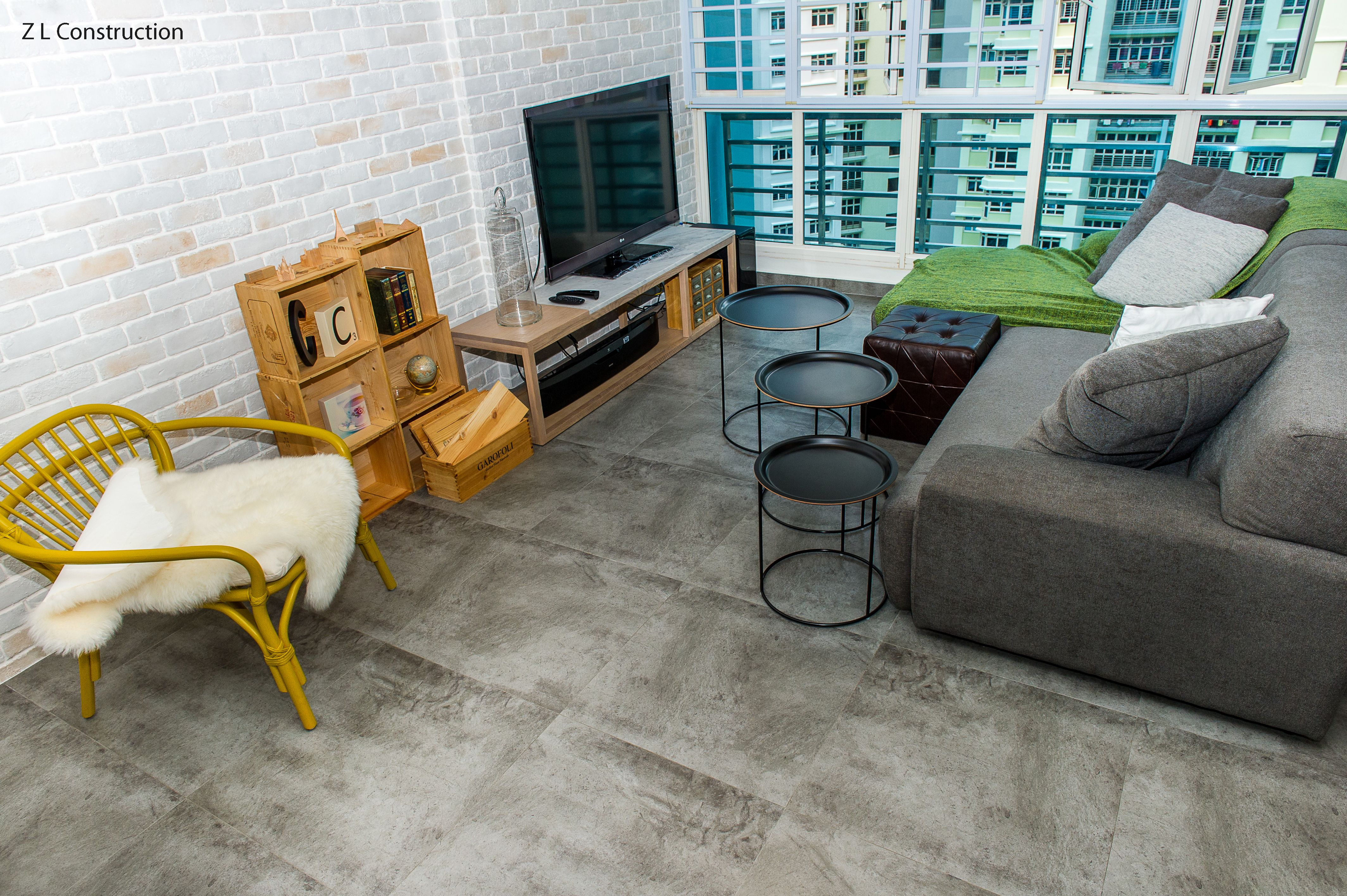 z l construction (singapore) \ cement screed-like floor tiles