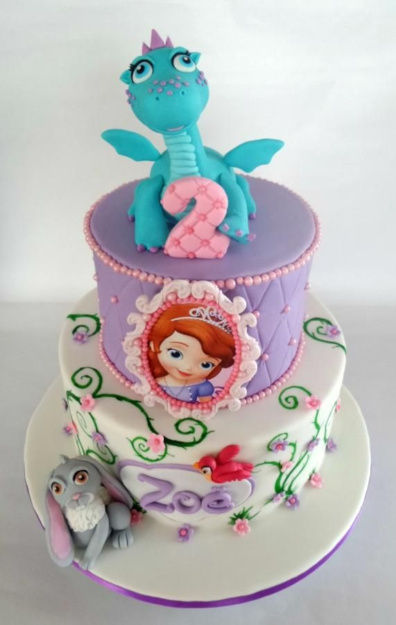 Crackle Clover And Sofia Cake By Have Some Cake Peas Sophie