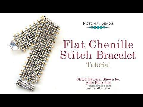 Photo of The Ultimate Guide to Flat Chenille Stitch Bracelet – DIY Jewelry Making Tutorial by PotomacBeads