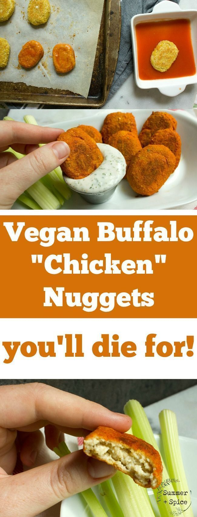 """Vegan Buffalo """"Chicken"""" Nuggets You'll Die For images"""