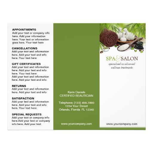 promotional brochure template - promotional trifold spa brochure template flyers flyer