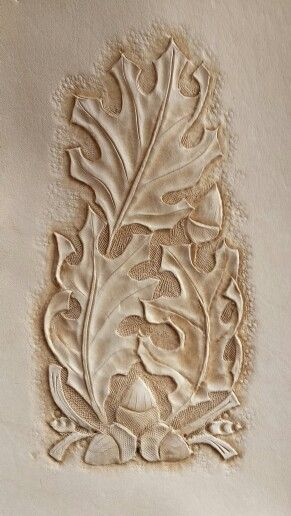 Oak leaf pattern leather pinterest leaves