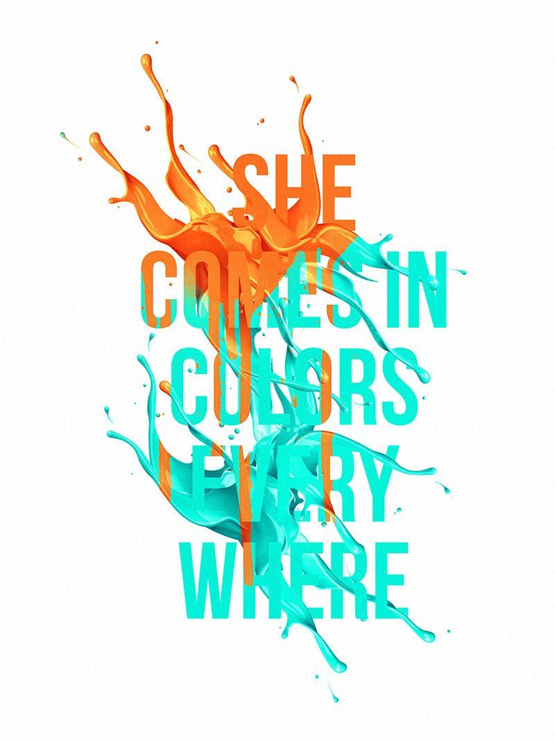 she is like a rainbow lettering by ricardo garcia logocore