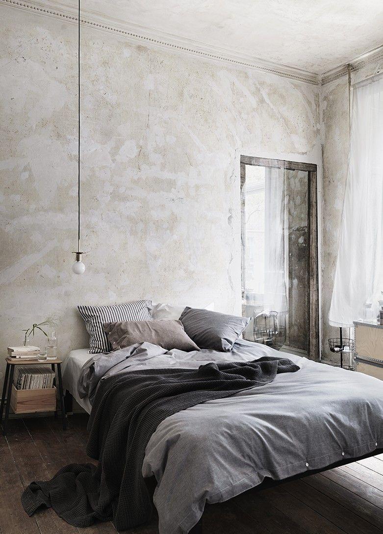 Schlafzimmer Gestalten Im Industrial Style Mit Antikem Hilzfußboden