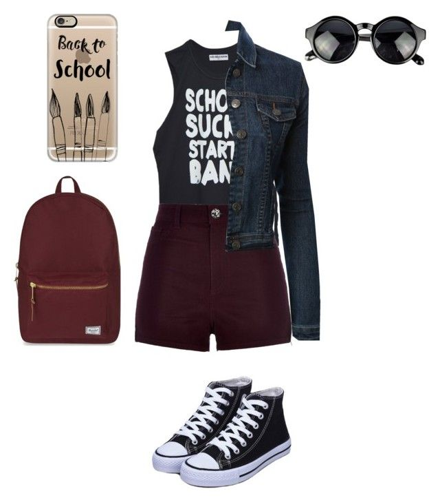 """""""Untitled #82"""" by anaacarolinesiilva ❤ liked on Polyvore featuring River Island, LE3NO, Casetify and Herschel Supply Co."""