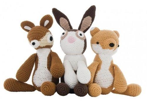 9acb45e0 Skjønne heklede teddy-dyr fra Sebra. 3 forskjellige varianter, rådyr, rev  eller
