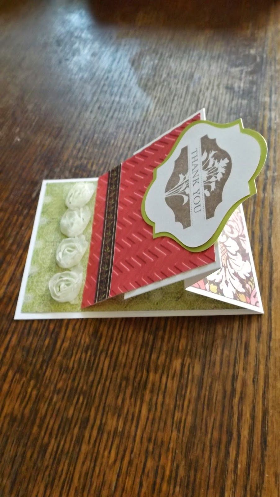 #CTMH #ThankYouCard #Card  side view of the card