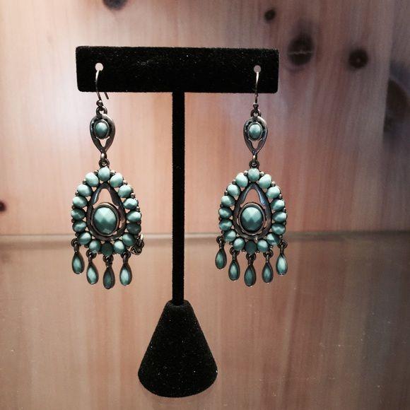 Earrings Turquoise dangle earrings w/silver Accessories