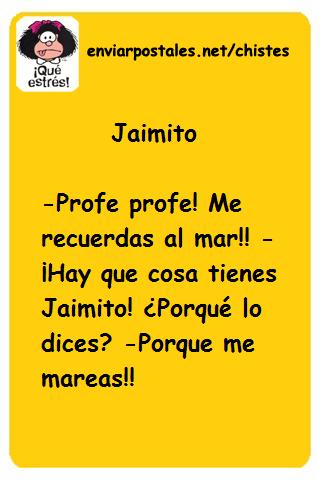 Chiste Jaimito me reuerdas al mar | Chistes de Texto para Enviar o  Compartir por Whatsapp