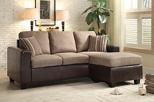 Homelegance 8401-3SC Reversible Sofa Chaise with 2 Pillows, Brown Linen-Like Fabric and Bi-Cast Vinyl  http://www.furnituressale.com/homelegance-8401-3sc-reversible-sofa-chaise-with-2-pillows-brown-linen-like-fabric-and-bi-cast-vinyl/