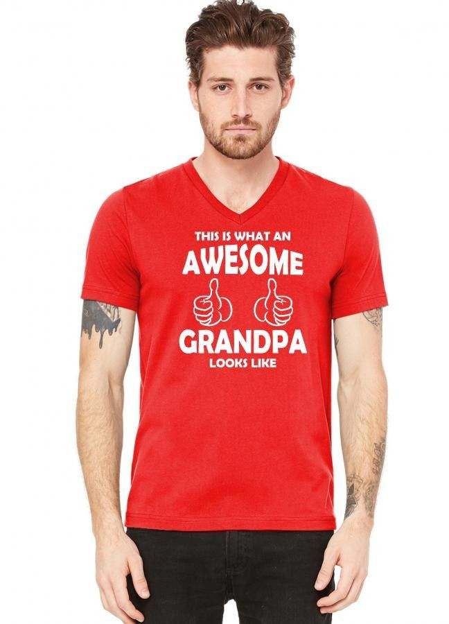 this is what an awesome grandpa looks like 1 copy V-Neck Tee