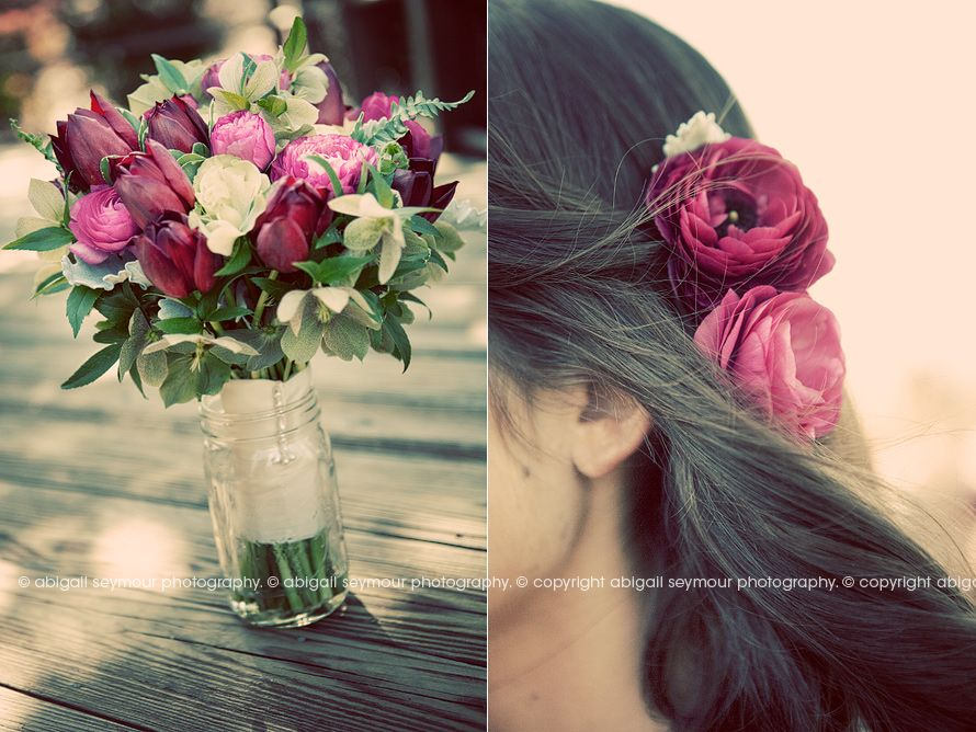 not usually a fan of the darker color combos, but this bouquet is stunning
