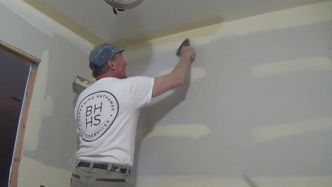 how to skim coat a wall with a roller