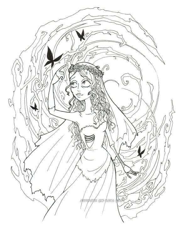 corpse bride coloring pages free coloring pages