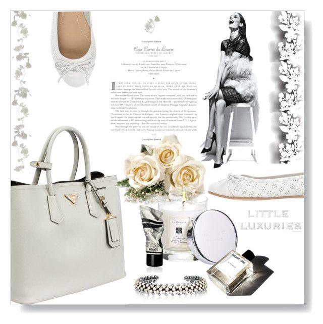 """Safiano, Pure & Simple..."" by desert-belle ❤ liked on Polyvore featuring Gioseppo, Prada, Élitis, Ryan Storer, Jo Malone, Garance Doré, Aesop, women's clothing, women's fashion and women"