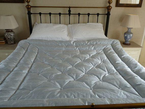 Dupion Silk Buttoned Feather Eiderdown Quilt Comforter £270.00 ...